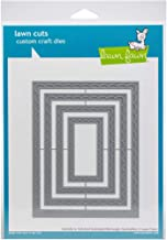 Lawn Cuts Custom Craft Stackables Dies-outside In Stitched Scalloped Rectangle
