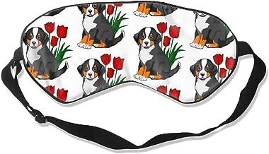 Mascherina per dormire in poliestere con benda bernese per occhi di cane da montagna con cinturino regolabile