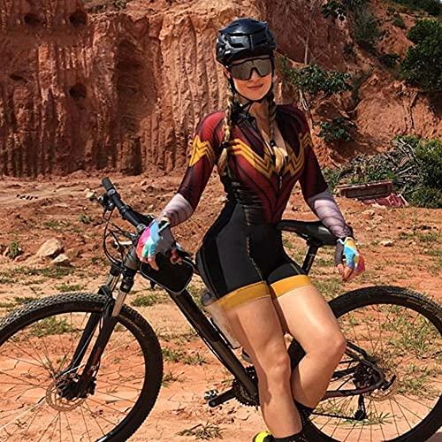 Triathlon Femme Jersey Jersey Jersey Set Vêtements Chemise Short à manches longues Suit Body Fashion Body (Color : 14, Size : XXS)