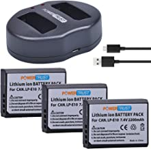 PowerTrust 3X LP-E10 Battery and Dual USB Charger for Canon 1100D 1200D 1300D Rebel T3 T5 KISS X50 X70 Battery