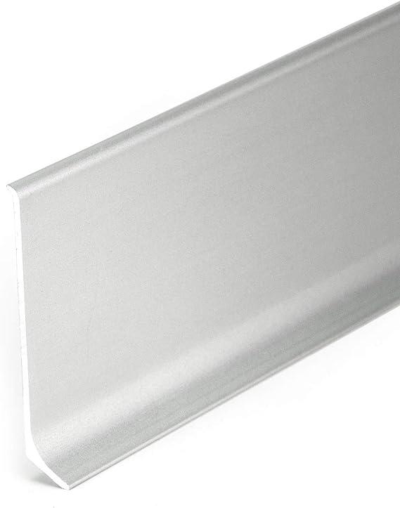 Innenecke f/ür Aluminium-Sockkelleisten Nr.372 Silber