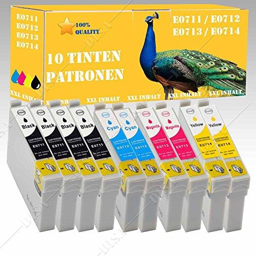 10x Cartuchos de Tinta XXL con chip compatible con Epson S20/S21/SX100/SX105/SX110/SX115/SX200/SX205/SX210SX215/SX218/Disa