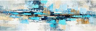 Abstract Oil Painting On Canvas And Mural Mural Navy Abstract Painting For Living Room Decoration