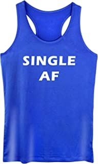 GROWYI Funny Workout Tank Top for Women with Saying Single AF Valentine Day Fitness Racerback Gym Sleeveless Shirts
