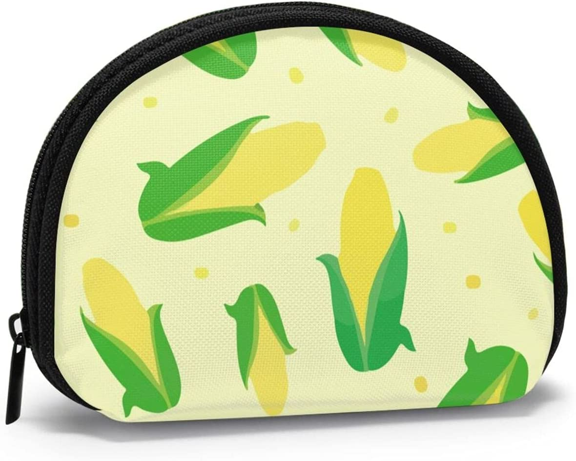 Women Change Coin Purse Fixed price for sale Green Corn Excellent Delicious Girl Storage Shell