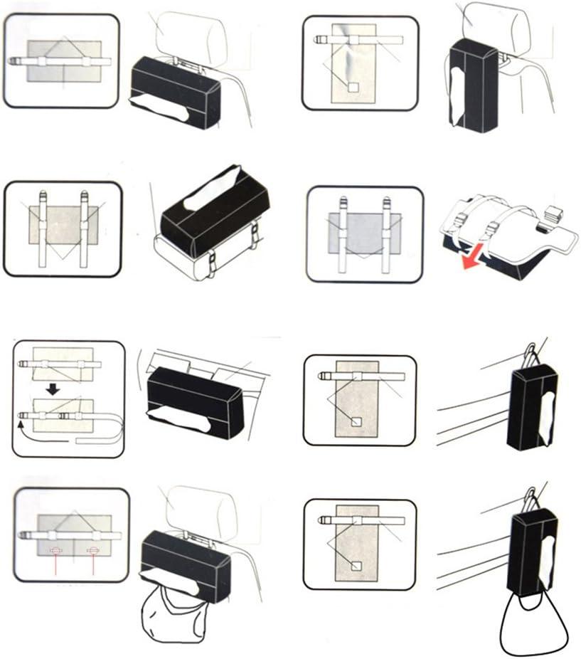 suministros de color negro servilleta de tela soporte de almacenamiento para el hogar dljztrade 1 caja de papel para coche de piel sint/ética auto y veh/ículos