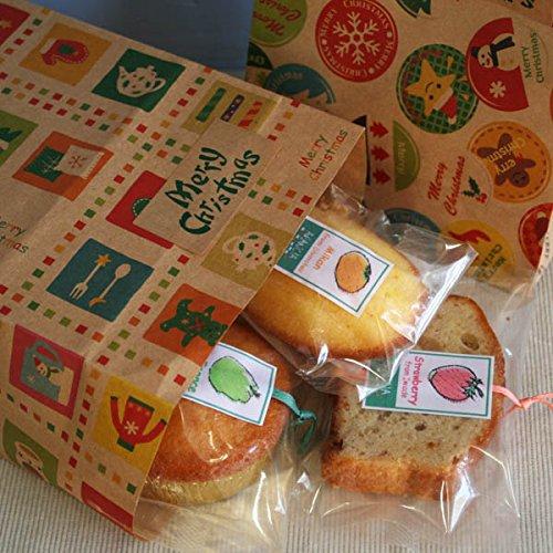 メリークリスマスペーパーバッグ〜焼き菓子クリスマスプチギフト
