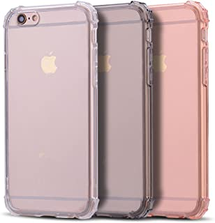 Anfire 3X Funda iPhone 6 / 6S Plus, Carcasa de Transparente y Suave Silicona Case para iPhone 6 / 6S Plus, Flexible Gel TPU [Esquinas Reforzadas] Bumper Caja Fundas Claro Blando Caso Cubierta Trasero