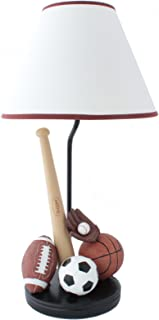 Sports Table Lamp with Matching Night Light - Fantastic Hand Painted Details