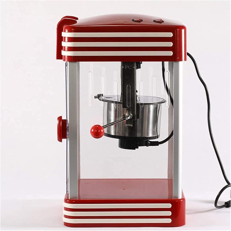 LITINGT Máquina de Palomitas de maíz Popcorn Retro '50S Look, Máquinas de Palomitas de maíz Retro Profesionales de 230 vatios, bocadillos de Palomitas de maíz (tamaño: 27x46x22.5cm)