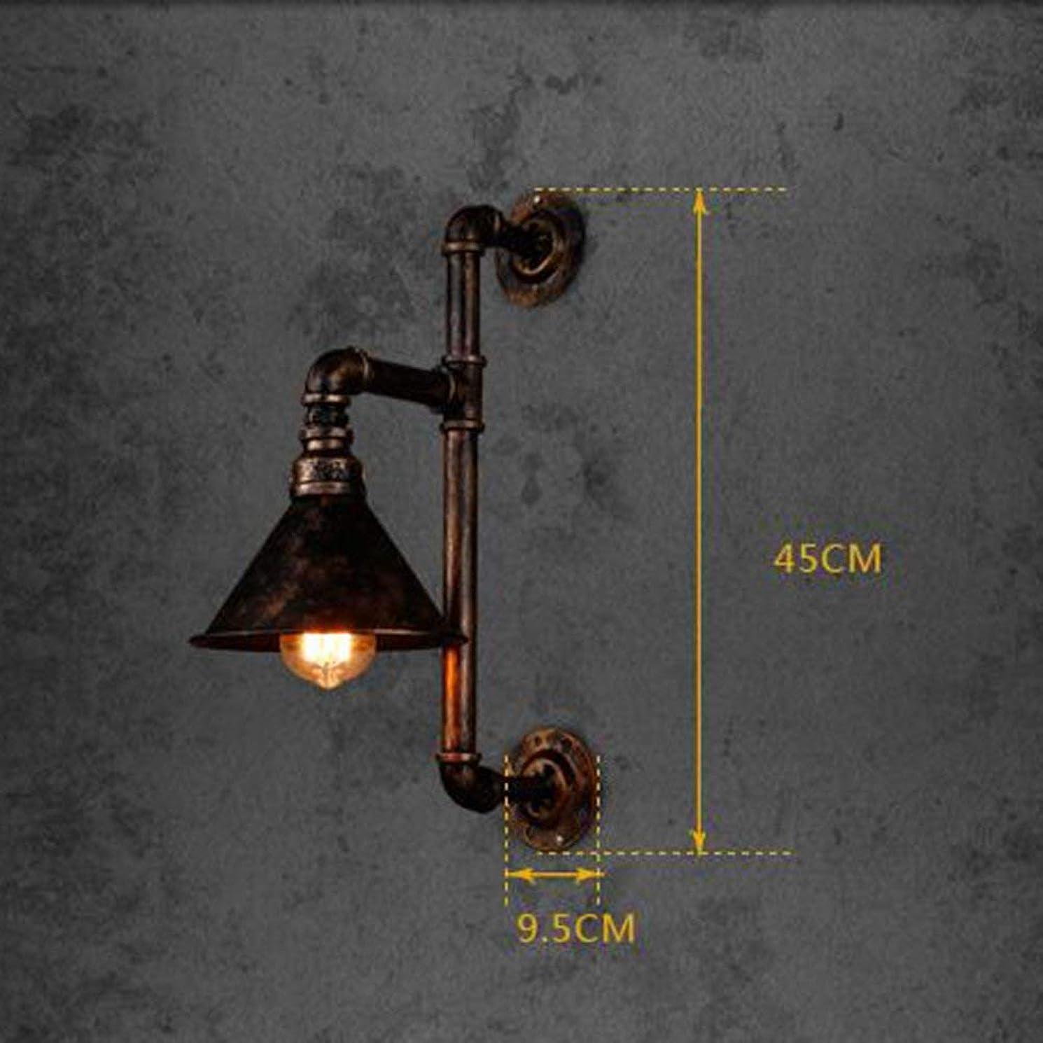 保守可能骨折ダブルウォールランプ水道管アイアンアート産業風クリエイティブレトロノスタルジアリビングルーム廊下通路レストランキッチンバー照明