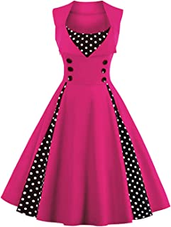 hot pink retro dress