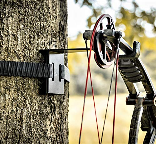 Bow Hanger - ON Your Tree Faster Than Your Old Screw-in - The ONLY Bow Hanger Legal to USE ON All State and Federal Lands - NO More Screw in Hook !