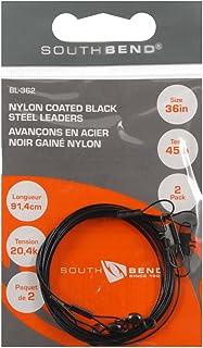 South Bend BL-362 36In Black Leaders 45Lb 2Pk