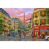 JW-MZPT Paris Street View Puzzle, Entwicklung von Intellectual Lernspielzeug, Dekomprimierung kreative Geschenk-Holzpuzzle,2000pieces