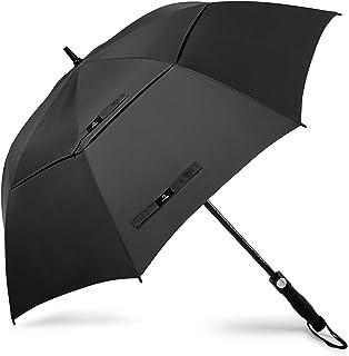 Paraguas de golf de 58/62/68 pulgadas, grande, resistente, automático, resistente al viento, doble toldo de gran tamaño, con ventilación, lluvia y nieve
