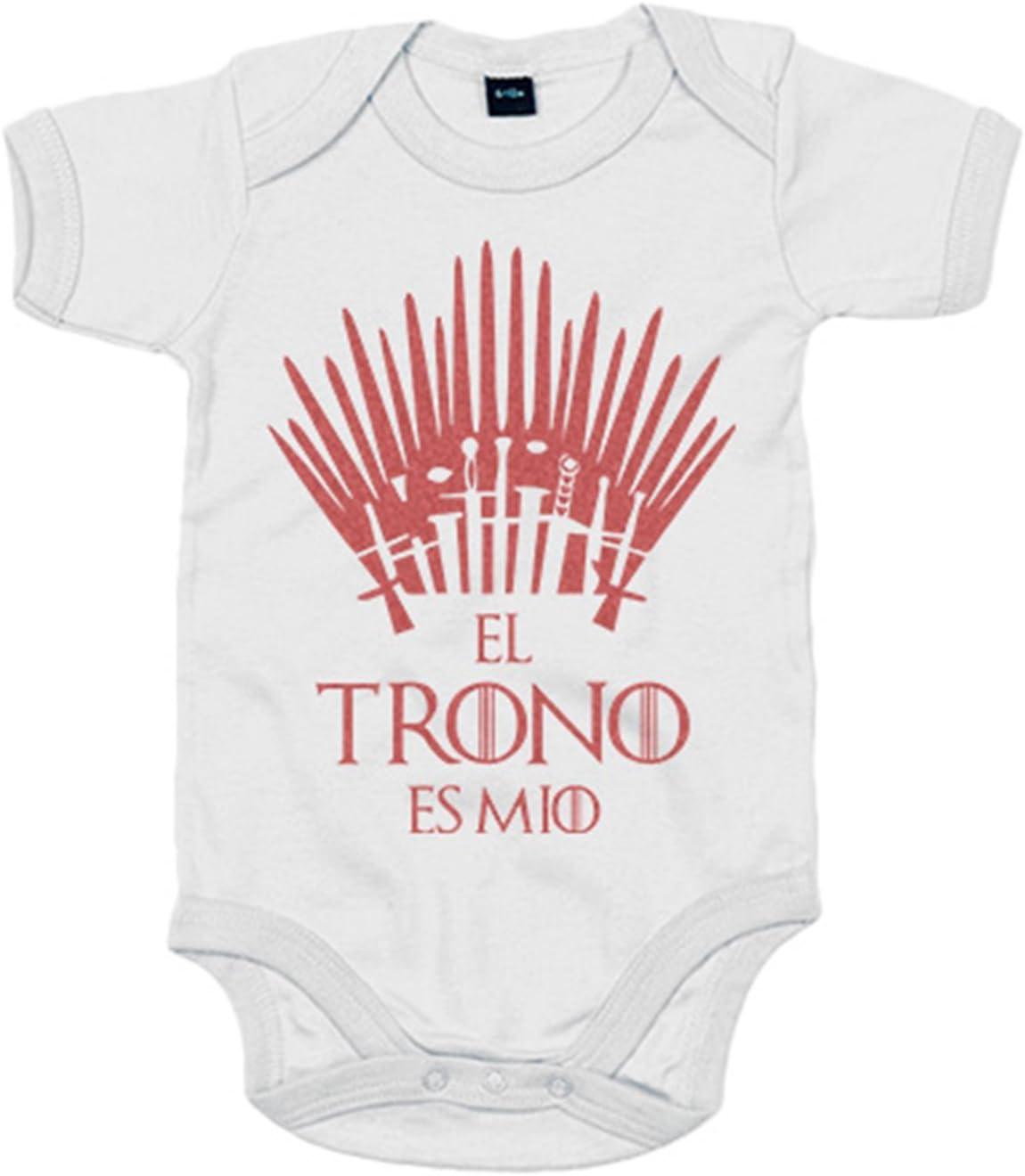 Body bebé El trono es mío - Blanco, 6-12 meses: Amazon.es: Bebé
