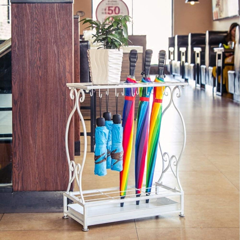 QXX Iron Umbrella Stand Storage Rack Hotel Lobby Floor-Mounted Umbrella Stand Umbrella Bucket Disassembly Large:70  50  24cm Small 60  24  44cm (color   B)