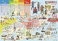 学べる日本史 2 中世編 (鎌倉~安土桃山時代) (ポスターケース発送) 小学校で習う基本的な日本史のお風呂用ポスター