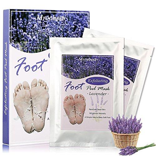 Fußmaske, Peeling Socken, Foot Mask, Exfoliating Socks, Lavender Fuss Maske, Entfernt natürlich abgestorbene Haut und Schwielen für die Füße glatt und zart wie Samt für Männer Frauen - 2 Paar
