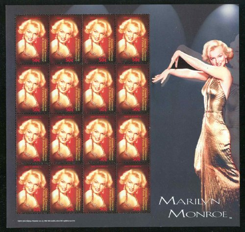 Grenada Marilyn Monroe Collectible Postage Stamps 2530