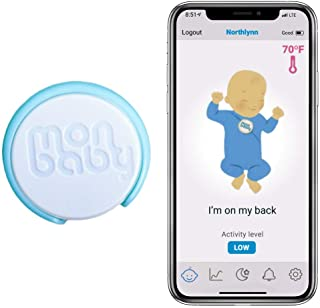 MonBaby(A) Baby Monitor with Sensor Alarm That Monitors Temperature, Breathing and Body Movement - Portable, Wearable, Acc...