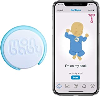 MonBaby Baby Breathing Monitor with Breathing, Rollover Movement and Temperature Sensors: Track Breathing, Rollovers, Skin...
