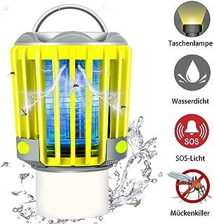 Jieer Lámpara Antimosquitos, Linterna de Camping, Linterna LED, Bug Zapper con Batería Recargable de 2200 Mah, Resistente Al Agua Ip66
