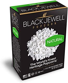 Black Jewell Natural Microwave Hulless Popcorn 10.5 Ounces (Pack of 6)