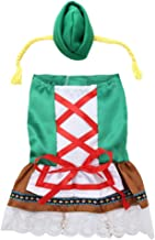 Dog Dress Christmas Waitress Costume Oktoberfest Dirndl Dog Dress Suit with Multiple Sizes