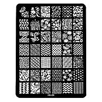 [ルテンズ] スタンピングプレートセット 花柄 ネイルプレート ネイルアートツール ネイルプレート ネイルスタンパー ネイルスタンプ スタンプネイル ネイルデザイン用品 (04)