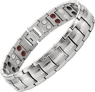 Willis Judd Double Strength 4 Element Titanium Magnetic Therapy Bracelet for Arthritis Pain Relief Adjustable