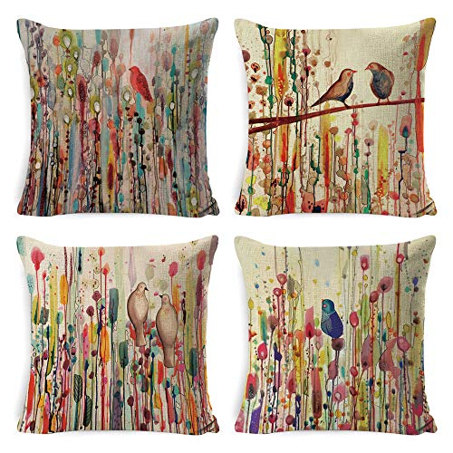 DUSEN Decorative Throw Pillow Covers for Couch, Sofa, or Bed...
