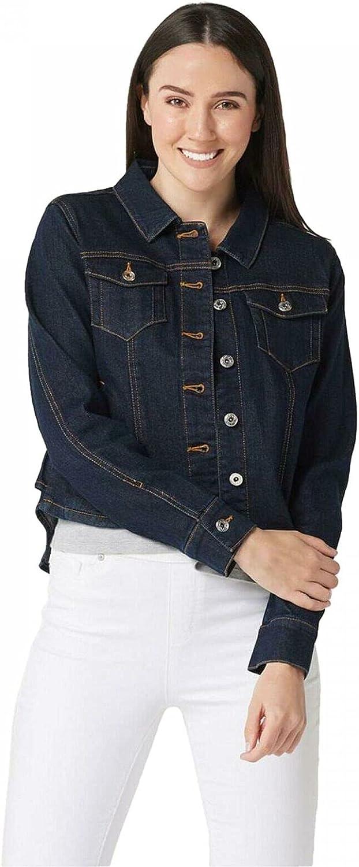 Du Jour Women's shipfree Denim Jacket With Back Award Detail. A354793 Ruffle