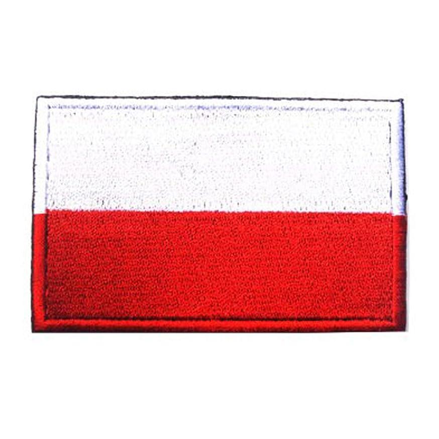 ShowPlus Poland PL Flag Military Embroidered Tactical Patch Morale Shoulder Applique