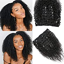 Afro Kinky Curly Clip in Human Hair Extensions for Black Women 10