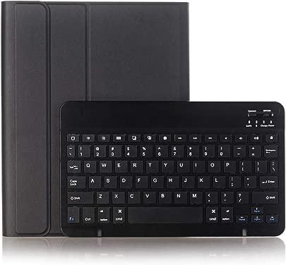 Tramako Tastatur-Schutzh lle f r iPad 25 7 cm  10 2 Zoll  2019  schlankes Design  leicht  mit magnetisch Abnehmbarer Tastatur mit Stifthalter  Schwarz