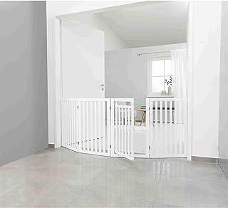 Barrier with Door, 4-Parts, 60–160 × 81 cm, White