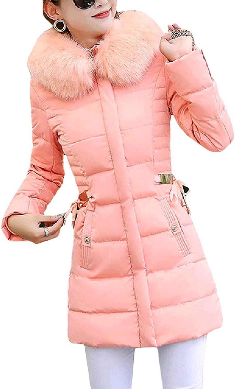 Tootca Women Hooded Plus Size Skinny Elegent Solid Puffer Jacket