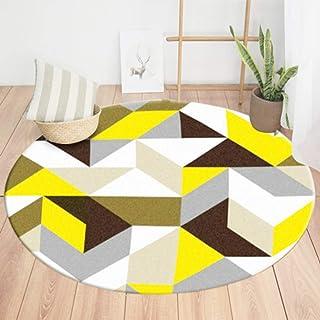 LONIY American Modern Fashion Geometric Carpet for livingroom Circular Rug Nordic Basket Bedroom Sofa Rug Circle mat