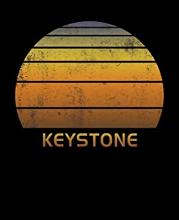 Keystone: Colorado Wide Ruled Notebook Paper For Work, Home Or School. Vintage Sunset Note Pad Journal For Family Vacations. Travel Diary Log Book For ... & Kids With 7.5 x 9.25 Inch Soft Matte Cover.
