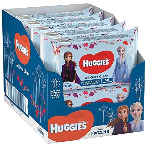 Huggies, Lingettes bébé, Pour les fesses, le visage et les mains, Avec motifs Disney, 10x56 lingettes, All Over Clean Disney
