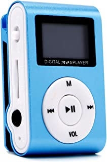 Margoun Digital MP3 Player Clip Style with 1inch LCD Screen in Blue