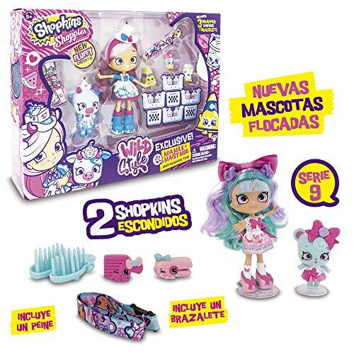 Shopkins–Pack con Bambola, 1Statuetta shoppets, shoopkins + Accessori, Multicolore (Giochi Preziosi hpkc9111)
