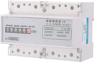 Medidor de energía eléctrica digital KUIDAMOS 220/380V 20-80A Medidor de energía, medidor de KWh trifásico, con indicadores LED de dos colores y señal de pulso de energía
