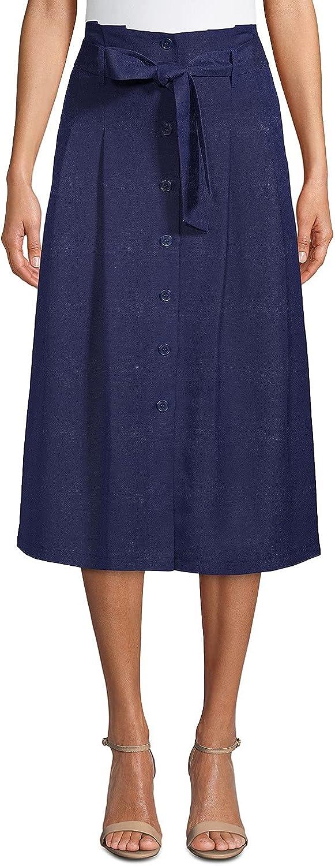 Anne Klein Women's Linen Belted Skirt