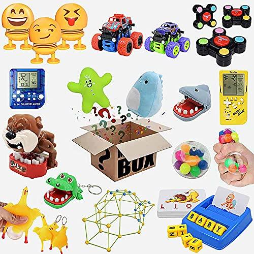JJIIEE Caixas misteriosas de brinquedos infantis, caixa surpresa aleatória super econômica, caixa surpresa de aniversário de 8 a 15 peças, melhor presente para feriados, festival de Natal