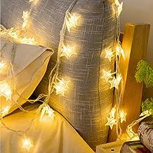 AniYY LED blinkande stjärna varma vita ljusslingor med batteridrivna inomhus utomhus älva ljusslingor för barnrum sovrum v...