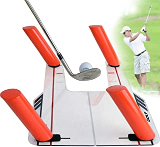 Mein LAY Easy Path Golf Swing Trainer 6 Strike Poles with Acrylic Base, Slice Corrector for Golf Training Aid, Speed Training