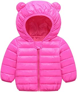 TJTJXRXR Infant and Toddler Baby Boys Girls Outerwear Hooded Puffer Coats Winter Jacket Outwear